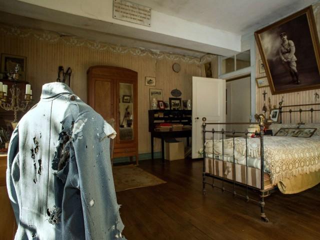 I. Dünya Savaşı'nda ölen asker Hubert Rochereau'nun odası öldüğü günden beri el sürülmeden korunuyor.