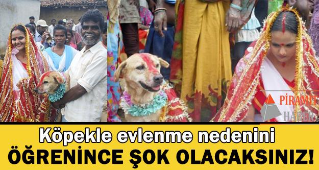 Hindistan'ın Jharkhand eyaletinde 18 yaşındaki bir kız, köpekle evlendi.