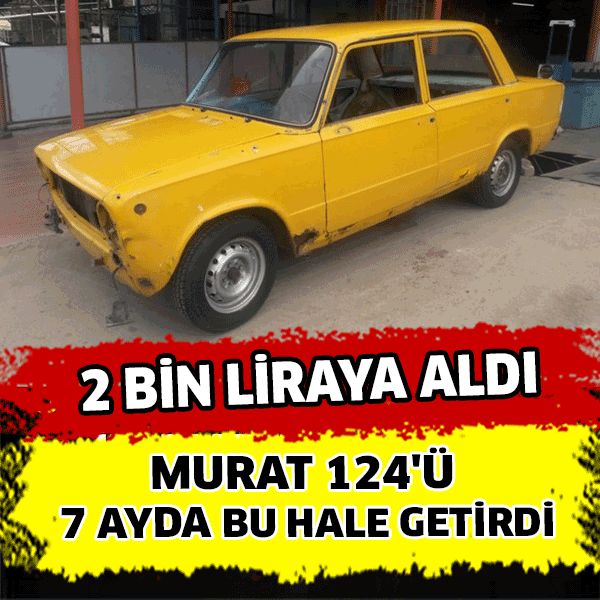 Klasik otomobil tutkunu Sinan Mengilliboğa halk arasında 'Hacı Murat' olarak bilinen hurda halindeki otomobili 2 bin liraya satın aldı.