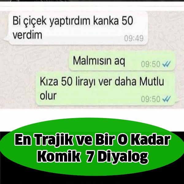 Beyin Yakan En Trajik ve Bir O Kadar Komik WhatsApp Diyalogları... Gülmek için, kahkaha için, hatta gülmekten çıldırmak için hazırlanmış WhatsApp diyalogları.