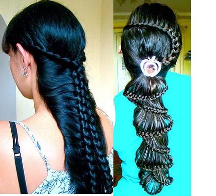 как заплести косу из шиньоны прически фото