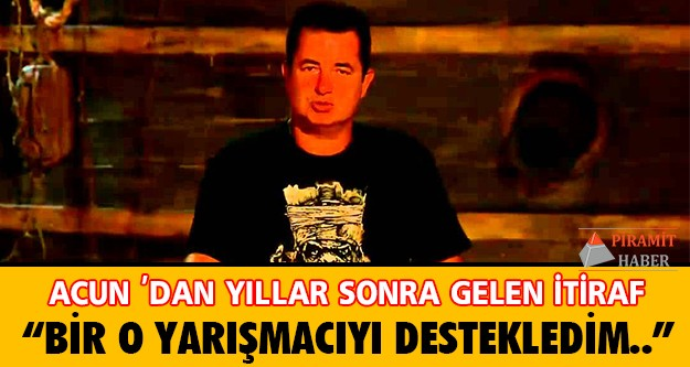 10 yıldır aralıksız yayınlanan Survivor yarışmasının yapımcısı ve sunucusu Acun Ilıcalı'dan yıllar sonra itiraf geldi.