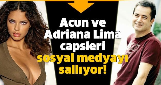 Acun Ilıcalı ve Adriana Lima capsleri sosyal medyayı sallıyor