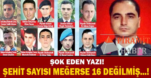 Dağlıca'da şehit düşen 16 askerin silah arkadaşı olan Şahin Şimşek sosyal medya Facebook hesabından yürekleri dağlayan bir paylaşımda bulundu.