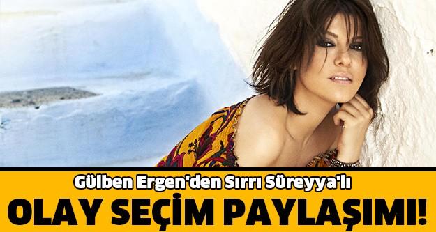 Gülben Ergen seçimin ilk sonuçlarından sonra Sırrı Süreyya Önder'in açıklamasına göndermede bulundu.
