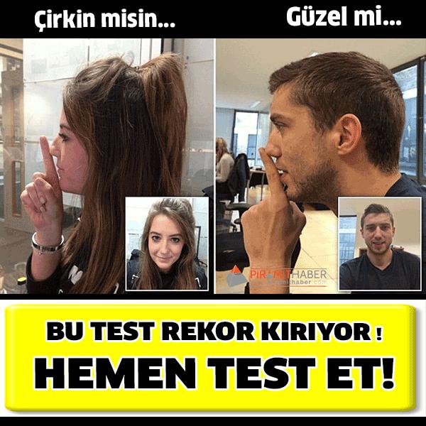 İnternet üzerinden yapılan 'güzellik testleri' çılgınlığına bir yenisi eklendi.