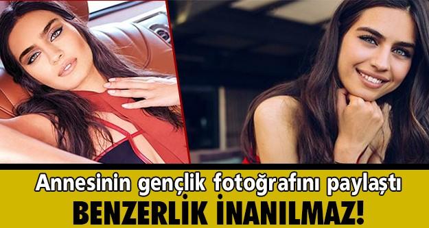 BEN BU ANNENİN KIZIYIM  2014 Miss Turkey birincisi Amine Gülşe, annesinin gençlik fotoğrafını Instagram'da paylaştı ve altına,