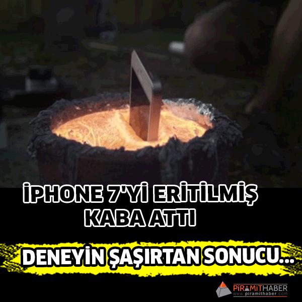 iPhone 7'ye sıradışı dayanıklılık testi