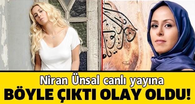 Şarkıcı Niran Ünsal, katıldığı tv programında başına taktığı İran tarzı, ince tülle dikkat çekti.