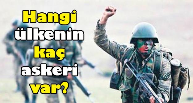 Türkiye askeri gücü ile dosta güven düşmana korku veriyor. Peki dünyanın sayılı ordularından biri olan Türk ordusunda kaç asker var? Dünyada ise kaçıncı sıradayız? İşte o rakamlar...
