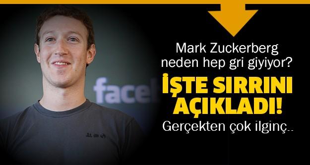 Facebook'un kurucusu Mark Zuckerberg, herkesin merak ettiği gri tişörtün sırrını açıkladı.