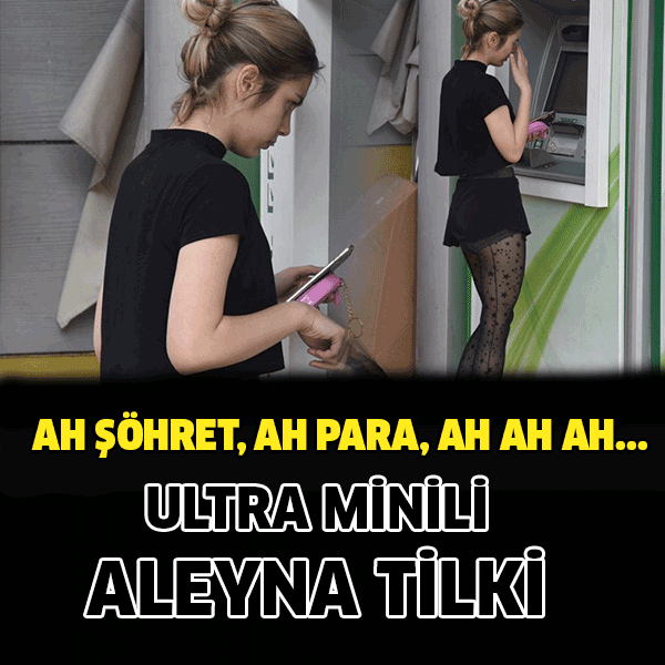 Aleyna Tilki mini şortu dikkatleri çekti