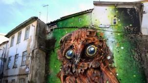 Çöpten malzemelerle 3 boyutlu grafiti
