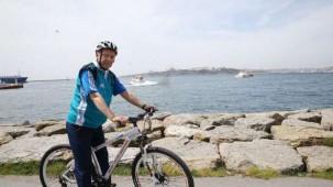 Cumhurbaşkanı Erdoğan bisiklet sürdü