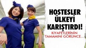 Kısa hostes üniformaları Japonya'yı karıştırdı