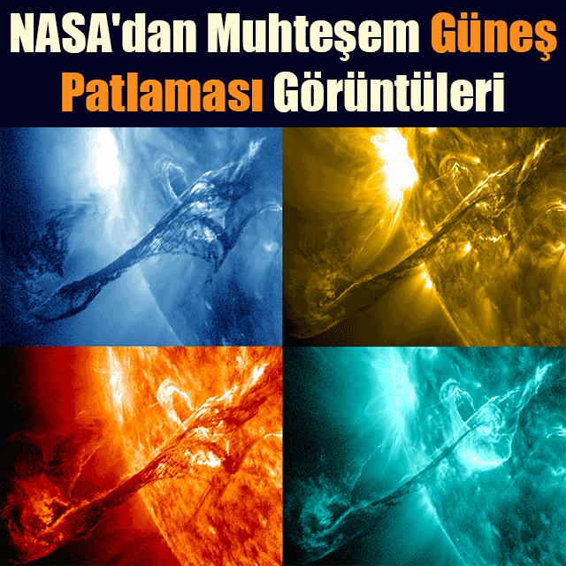 NASA'dan Muhteşem Güneş Patlaması Görüntüleri