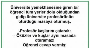 Öğrenciden Profesöre Kapak Üstüne Kapak cevaplar