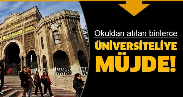 AK Parti Ankara Milletvekili Emrullah İşler, sosyal medyadan yaptığı açıklamada, okulundan atılan binlerce üniversiteliye bekledikleri müjdeyi verdi.