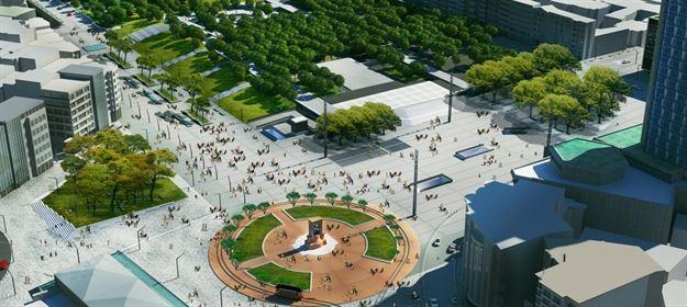 """Beyoğlu'ndan sorumlu Koruma Kurulu, İstanbul Büyükşehir Belediyesi'nin hazırlattığı """"Taksim Meydanı ve Yakın Çevresi Düzenleme Projesi""""ni onayladı. Plana göre meydana ağaçlar dikilecek, süs havuzları yapılacak. Projeye itirazlar da var."""