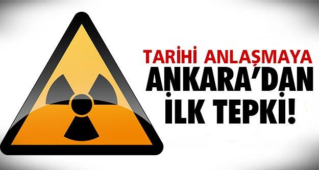 Ankara'dan ilk tepki geldi..