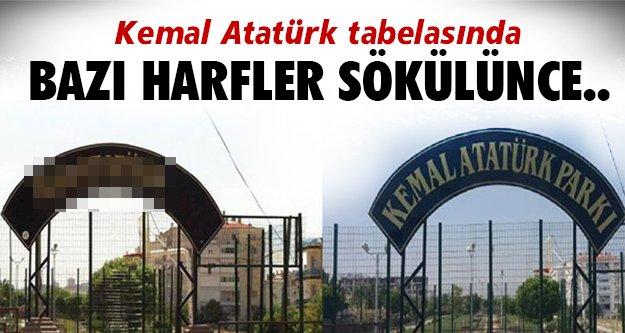 Atatürk'e büyük saygısızlık!