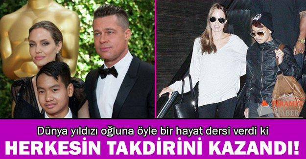 Angelina Jolie'den oğluna büyük ders!