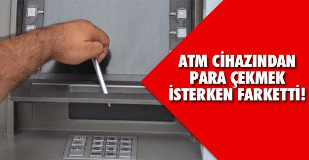 ATM'de meğer..
