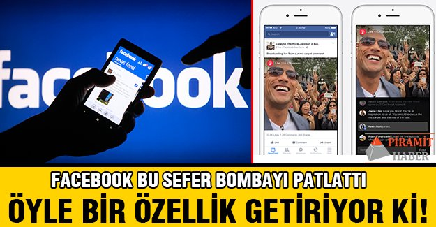 Facebook'tan bomba uygulama!