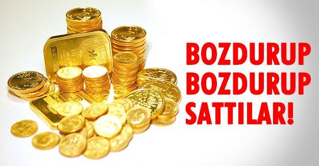 Yatırımcı altınlarını bozdurdu!