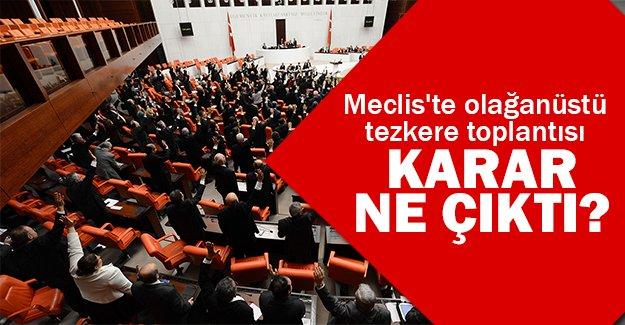 Meclis'te kriz çıktı!