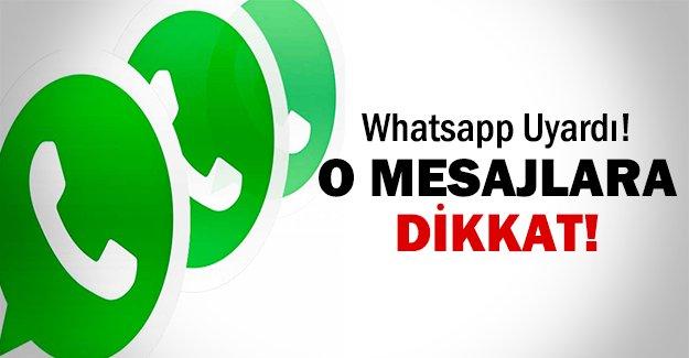 Whatsapp uyardı!