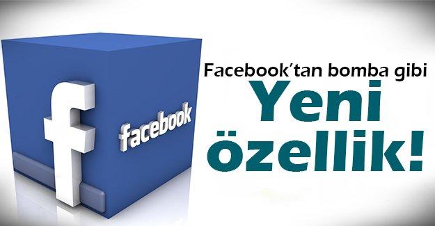 Facebook'tan bir yeni özellik daha!