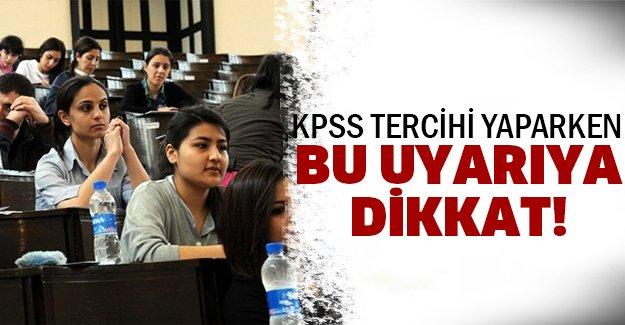 KPSS tercihleri başladı!
