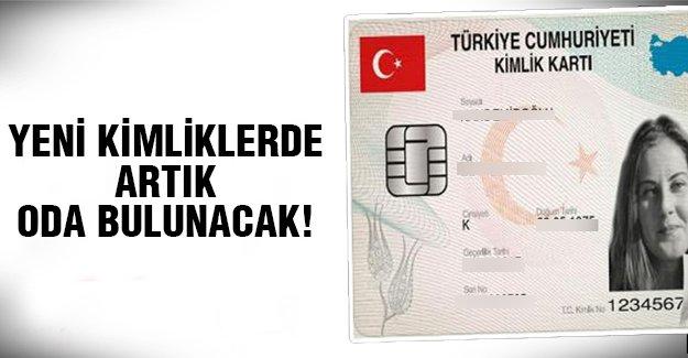 Yeni kimlik kartlarının üzerinde..