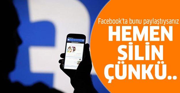 Facebook kullananlar aman dikkat!