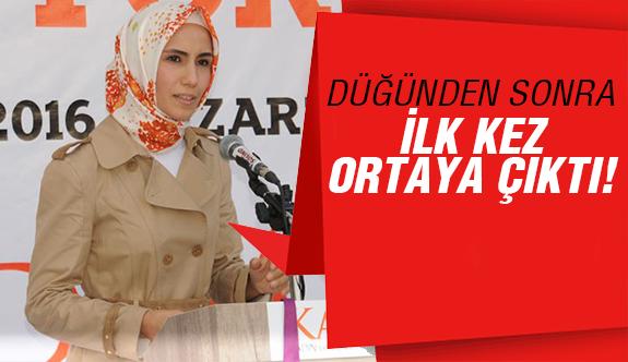 Sümeyye Erdoğan'dan sürpriz çıkış!