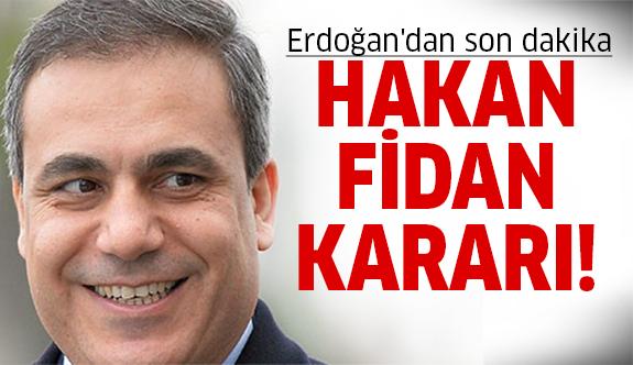 Erdoğan Hakan Fidan'ı çağırdı!