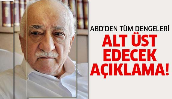 Gülen'in iadesiyle ilgili kritik açıklama!