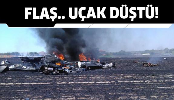 Tekirdağ Çorlu'da eğitim uçağı düştü!