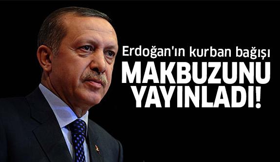 Erdoğan kurban bağışı yaptı makbuzunu yayınladı!