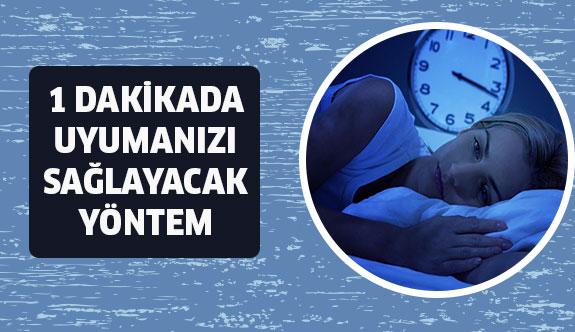 1 Dakikada Uyumanızı Sağlayacak Yöntem