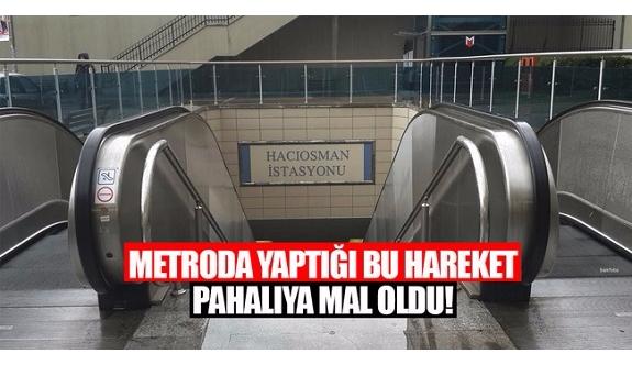Metro İstasyonu'nun duvarına yazdığı yazı pahalıya mal oldu