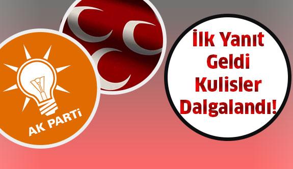 MHP'ye AK Parti'den gelen ilk yanıt