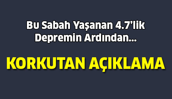 Prof.Dr. Ercan'dan Kuşadası depremiyle ilgili korkutan açıklama