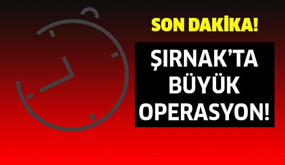 Son Dakika: Şırnak'ta Büyük Operasyon!