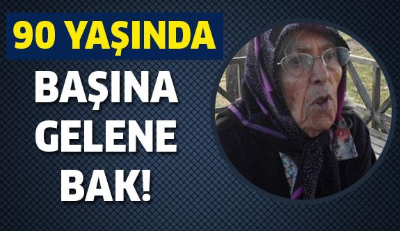 90 yaşındaki kadının başına gelene bir bakın!
