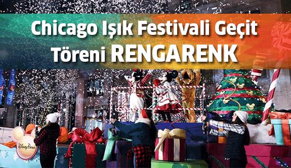 Chicago Işık Festivali Geçit Töreni renkli görüntüler sergiledi
