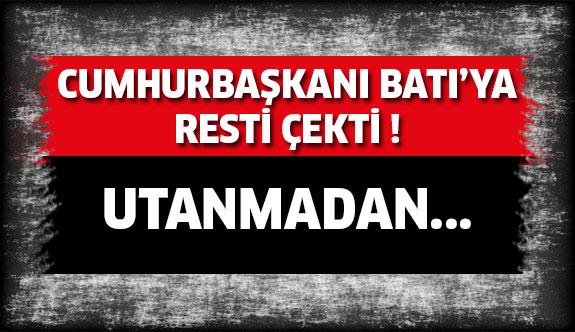 Erdoğan Resti Çekti ! Utanmadan...