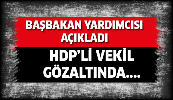 HDP'li vekil Nihat Akdoğan gözaltına alındı...