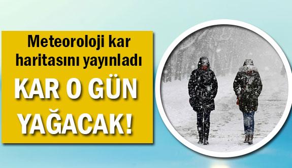 Meteoroloji'den kar yağışı için tarih geldi!